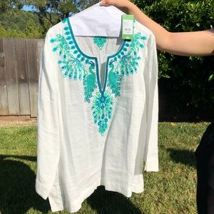 NWT Lilly Pulitzer Embroidered Tunic